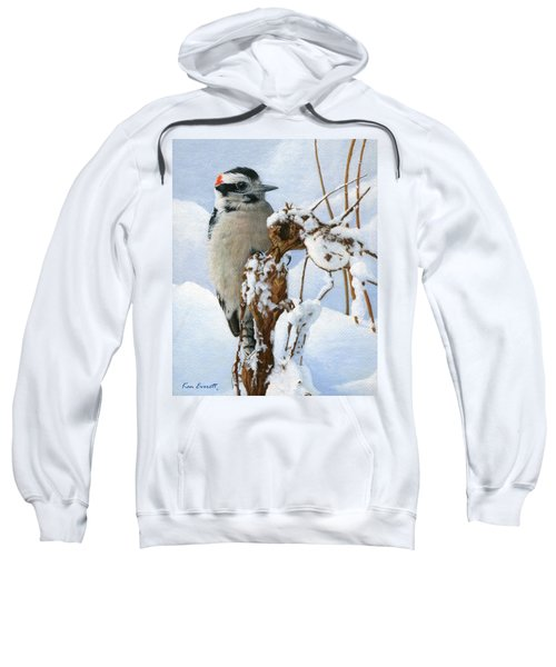 Downy Woodpecker  Sweatshirt by Ken Everett