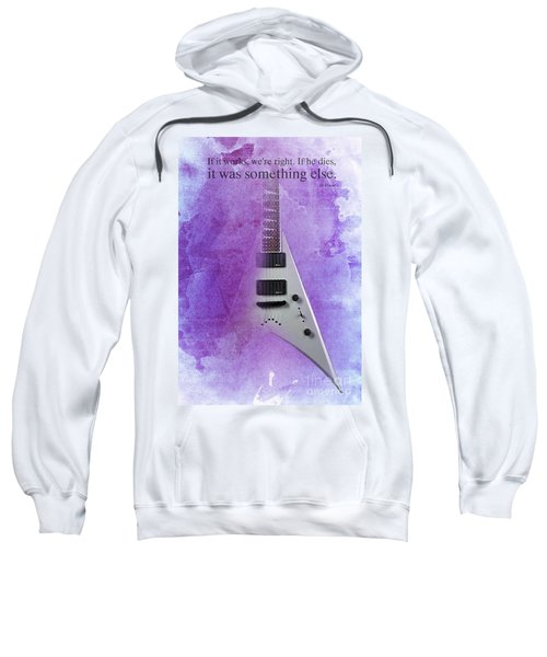 Dr House Quote And Electric Guitar On Purple Background Sweatshirt