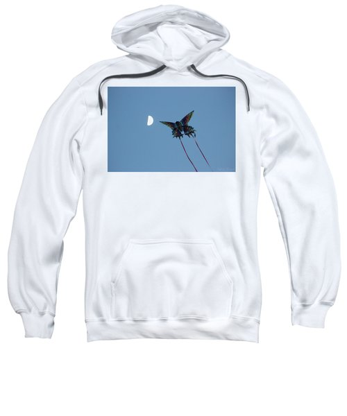 Dragonfly Chasing The Moon Sweatshirt