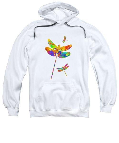 Dragonfly Watercolor Art Sweatshirt