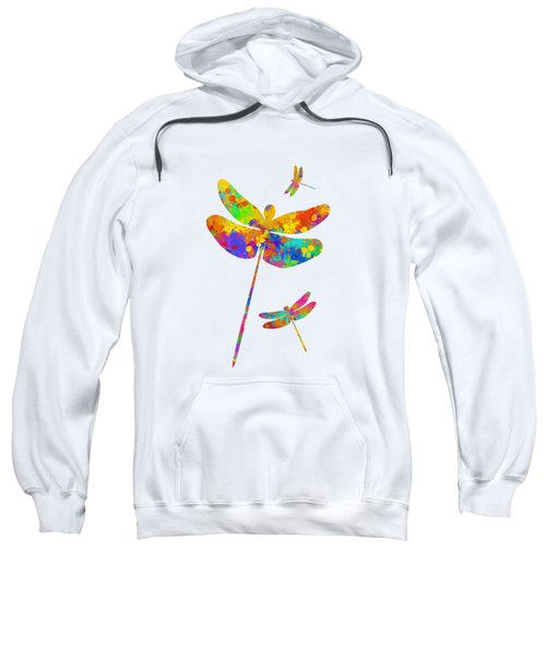Dragonfly Watercolor Art Sweatshirt