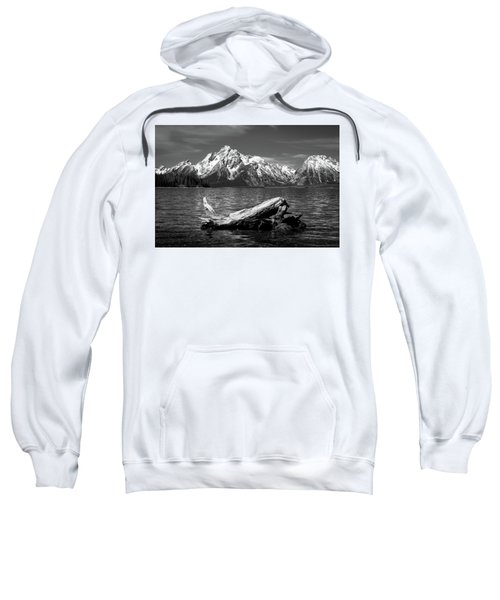 Sweatshirt featuring the photograph driftwood and Mt. Moran by Stephen Holst