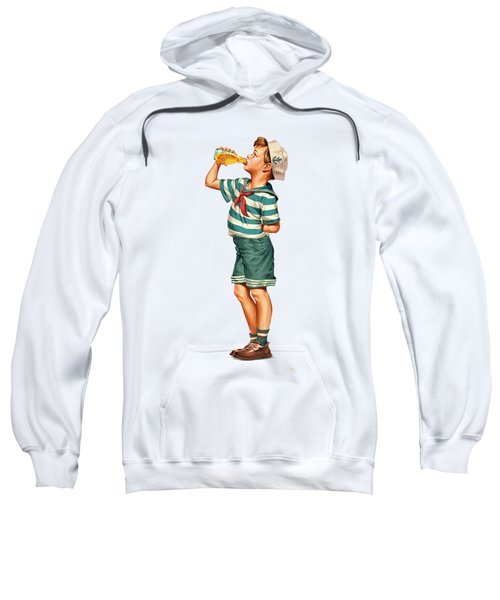 Sweatshirt featuring the digital art Drink Up Sailor by ReInVintaged