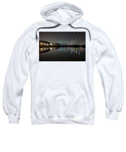 Dubai City Skyline Night Time Reflection Sweatshirt