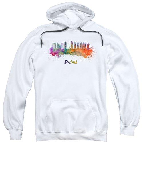 Dubai V2 Skyline In Watercolor Sweatshirt