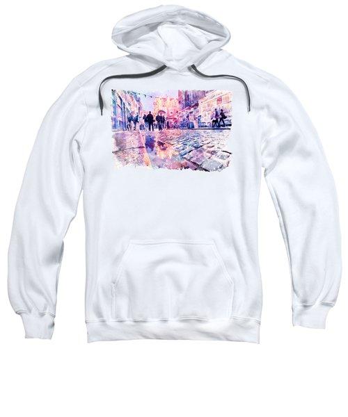 Dublin Watercolor Streetscape Sweatshirt