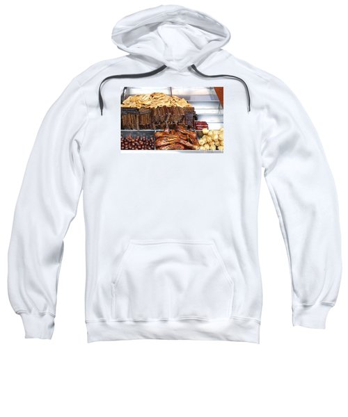 Duck Heads In Soy Sauce And Rice And Blood Cakes Sweatshirt