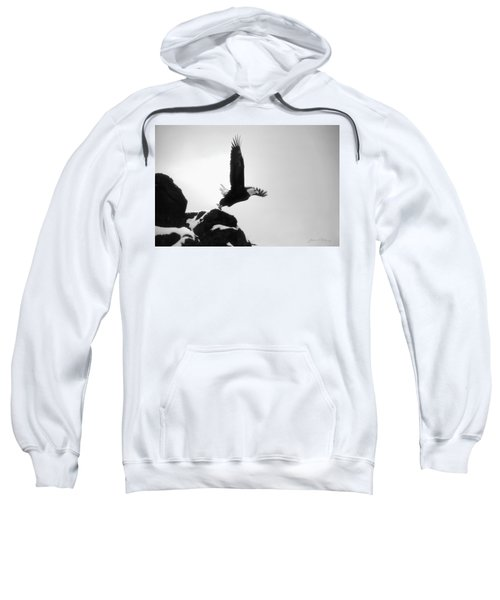 Eagle Takeoff At Adak, Alaska Sweatshirt