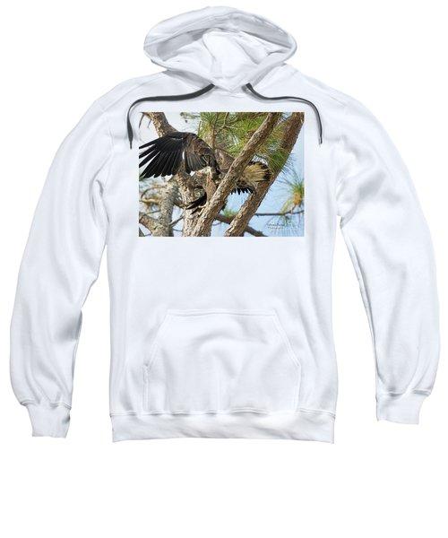 Eaglet Wing Flexing Sweatshirt