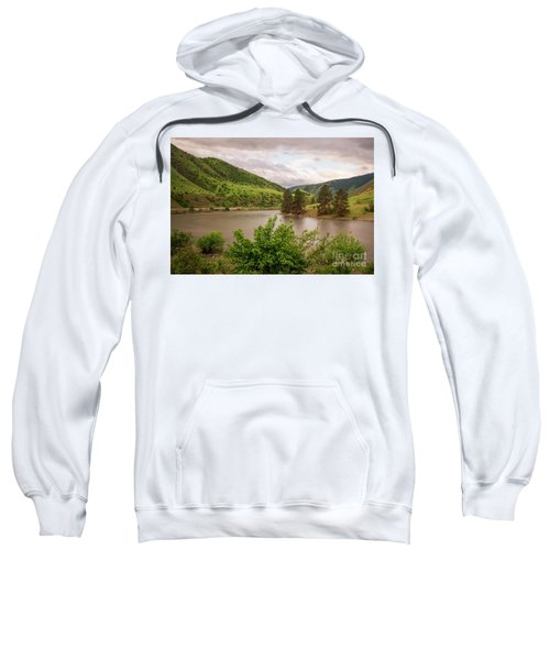 Early Morning Smoothy Waterscape Art By Kaylyn Franks  Sweatshirt