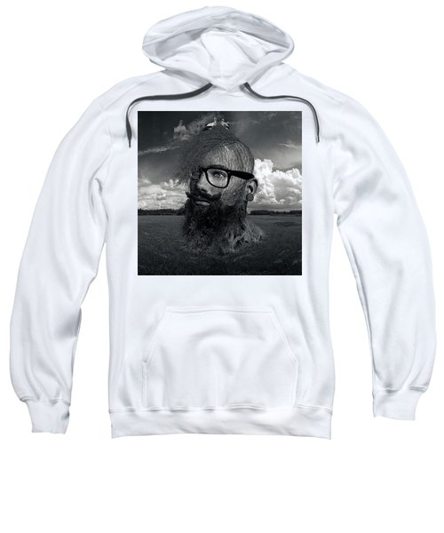 Eco Hipster Black And White Sweatshirt
