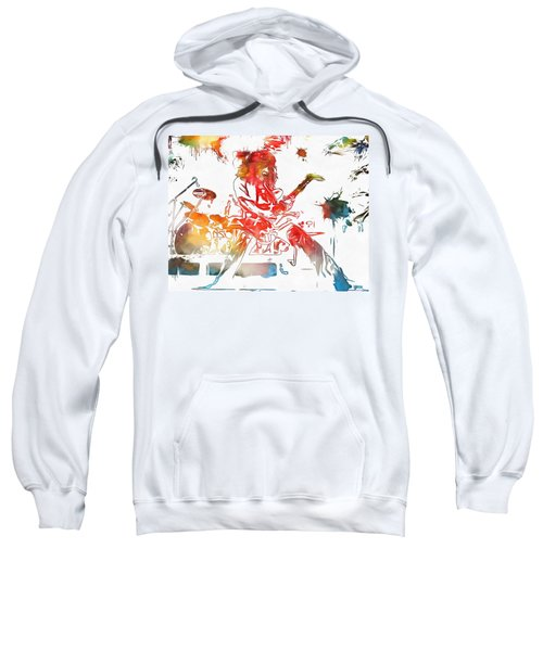 Eddie Van Halen Paint Splatter Sweatshirt by Dan Sproul