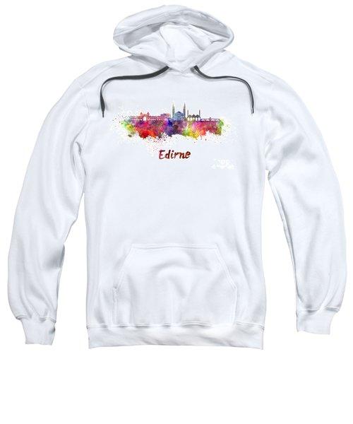 Edirne Skyline In Watercolor Sweatshirt by Pablo Romero
