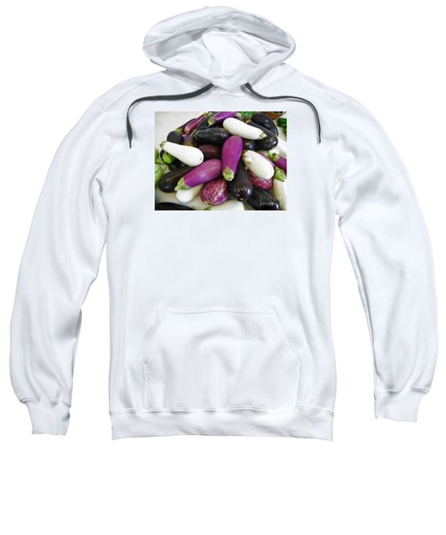 Sweatshirt featuring the photograph Eggplant Varieties by Dee Flouton