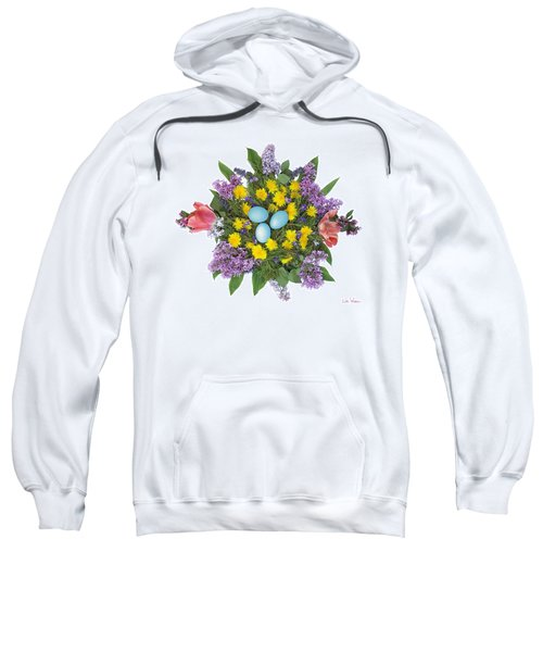 Eggs In Dandelions, Lilacs, Violets And Tulips Sweatshirt