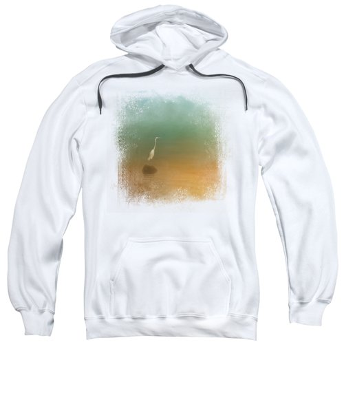 Egret At Sea Sweatshirt by Jai Johnson