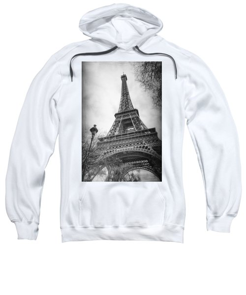 Eiffel Tower And Lamp Post Bw Sweatshirt
