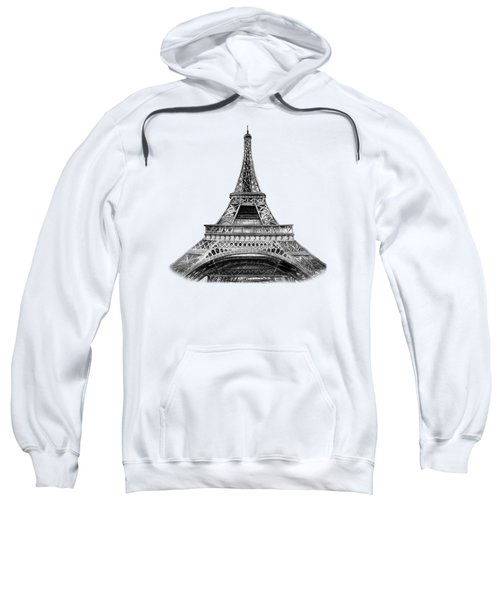 Eiffel Tower Design Sweatshirt by Irina Sztukowski