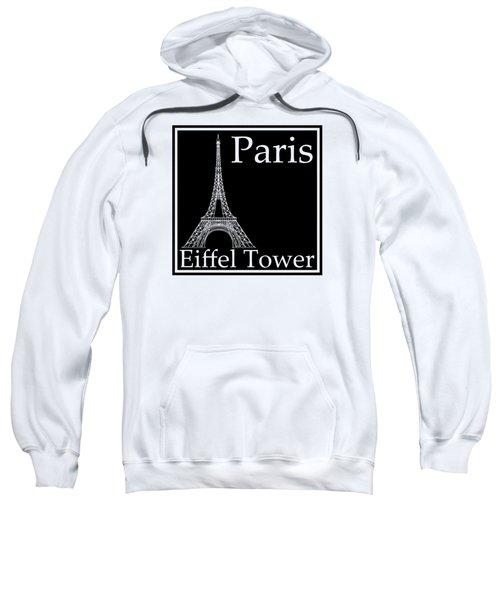 Eiffel Tower In Black Sweatshirt by Custom Home Fashions
