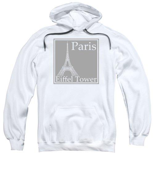 Eiffel Tower In Gray Sweatshirt by Custom Home Fashions