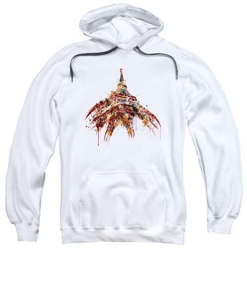 Eiffel Tower Watercolor Sweatshirt