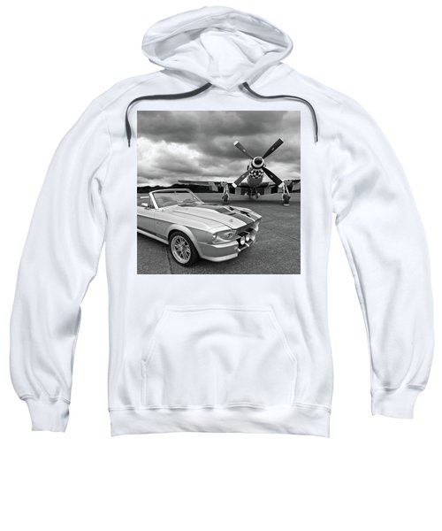 Eleanor Mustang With P51 Black And White Sweatshirt