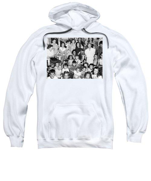 Eleanor Roosevelt And Children Sweatshirt by Underwood Archives