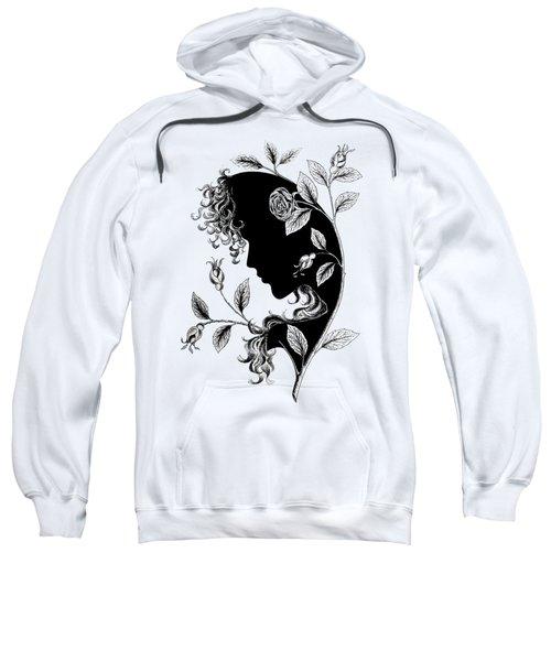 Elf In Roses Sweatshirt by Magdalene's Art