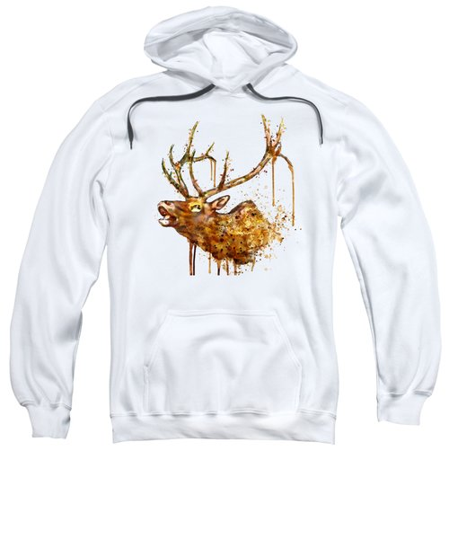 Elk In Watercolor Sweatshirt
