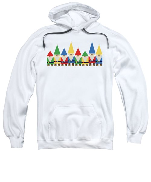 Elves On White Sweatshirt