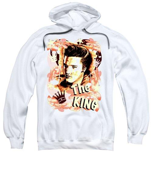 Elvis The King In Salmon Red Sweatshirt