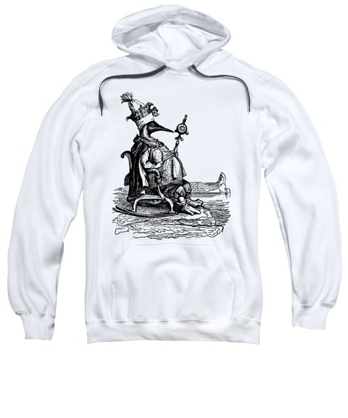 Empire Penguin Grandville Transparent Background Sweatshirt by Barbara St Jean