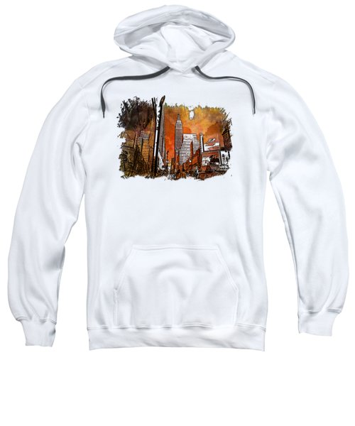 Empire State Reflections Earthy Rainbow 3 Dimensional Sweatshirt by Di Designs