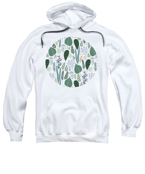End Of Winter Spring Thaw Garden Pattern Sweatshirt