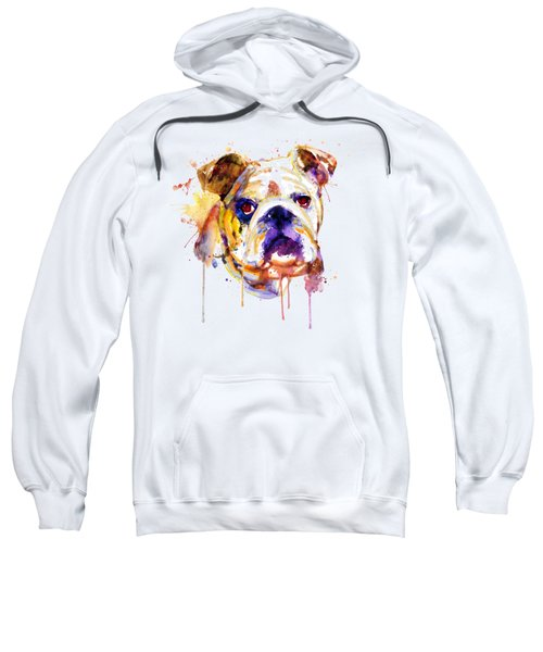 English Bulldog Head Sweatshirt
