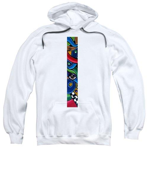 Colorful Abstract Art Painting, Modern Art Brown Eye Art Paintings Sweatshirt