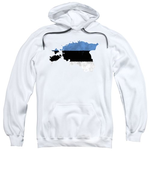 Estonia Map Art With Flag Design Sweatshirt