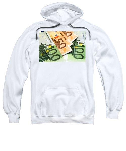 Euro Banknotes Sweatshirt