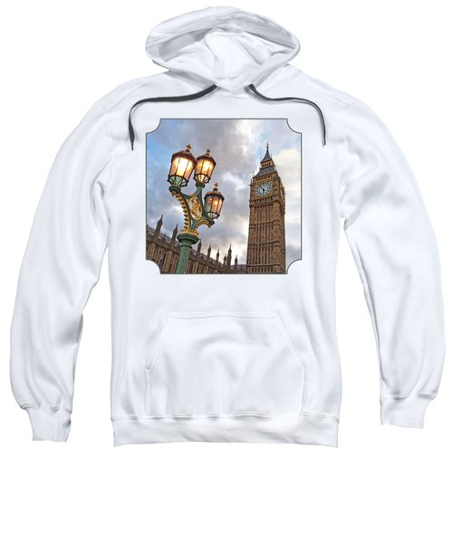 Evening Light At Big Ben Sweatshirt by Gill Billington