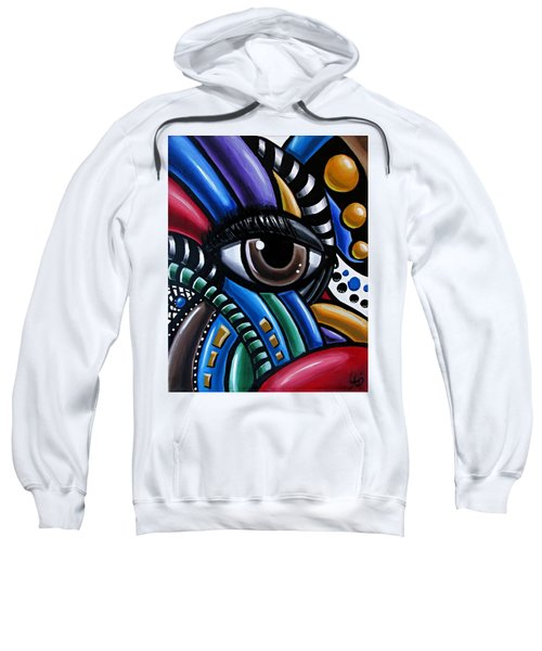 Eye Abstract Art Painting - Intuitive Chromatic Art - Pineal Gland Third Eye Artwork Sweatshirt