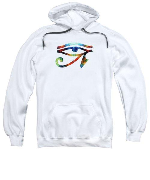 Eye Of Horus - By Sharon Cummings Sweatshirt
