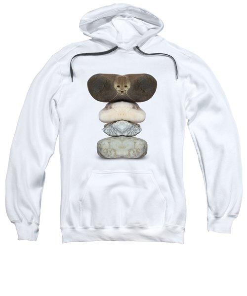 Face Of Alien On The Stone Sweatshirt