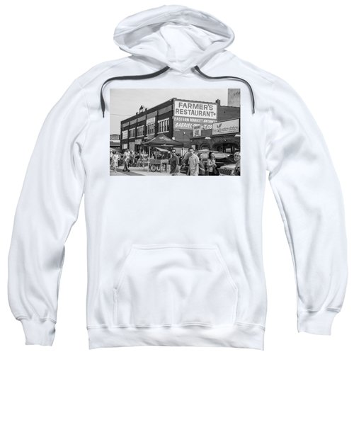 Farmers Restaurant In Detroit Black And White  Sweatshirt