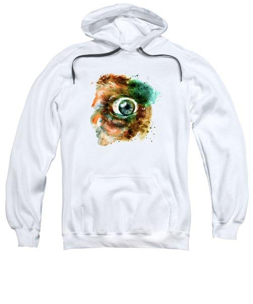 Fear Eye Watercolor Sweatshirt