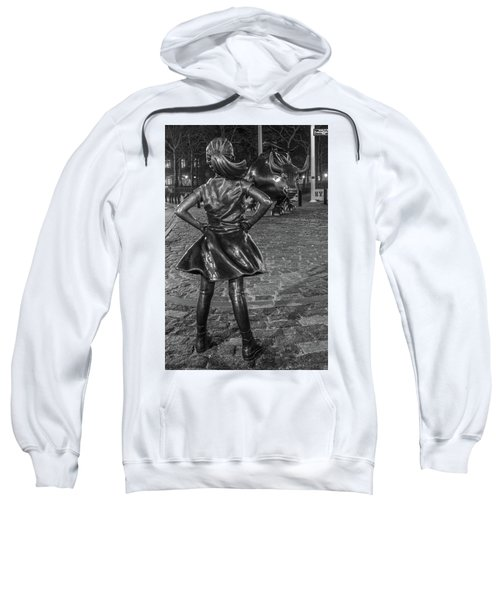 Fearless Girl And Charging Bull Nyc Sweatshirt