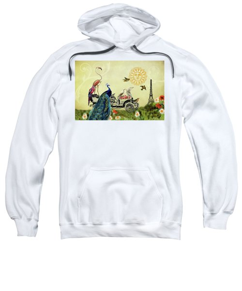 Feathered Friends In Paris, France Sweatshirt