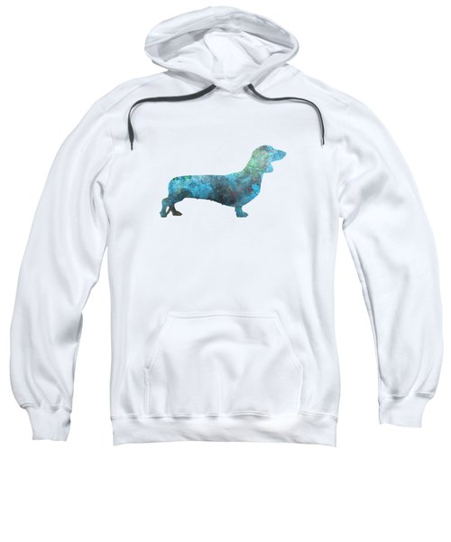 Female Dachsund In Watercolor Sweatshirt by Pablo Romero