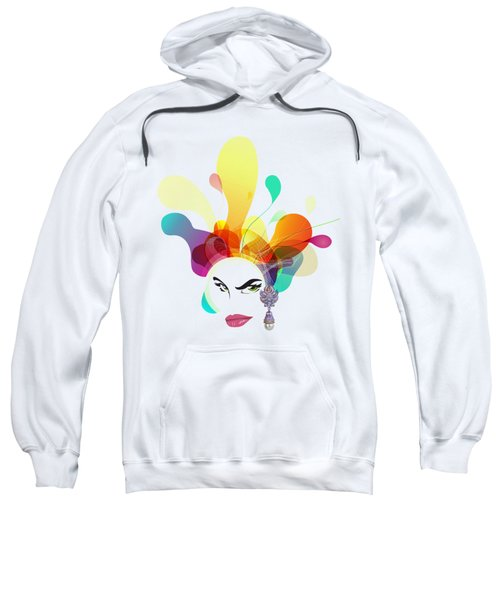 Female Face Abstract Sweatshirt