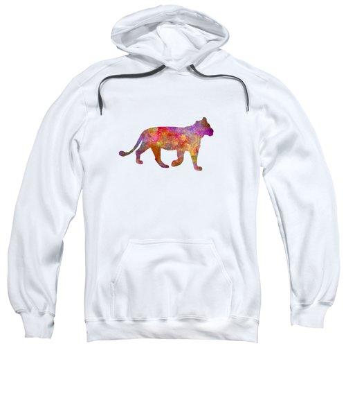 Female Lion 01 In Watercolor Sweatshirt
