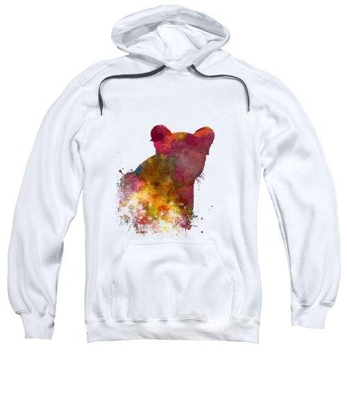 Female Lion 02 In Watercolor Sweatshirt by Pablo Romero